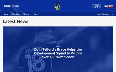 Screenshot of Press Page bristolrovers.co.uk - Latest News - Bristol Rovers - captured Oct. 11, 2017