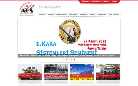 Screenshot of Home Page ags-ltd.com.tr - AGS Enerji & Savunma Sanayi Teknolojileri - captured Oct. 4, 2014