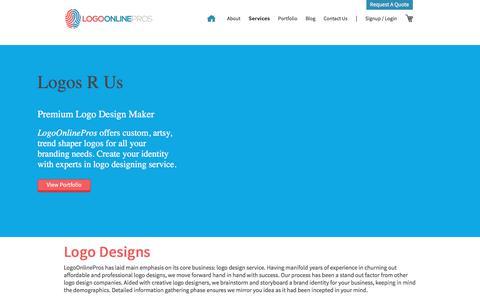 Screenshot of Pricing Page logoonlinepros.com - Logo Design Online, Best Affordable Logo Designers, Professional Logos - captured July 21, 2018