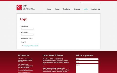 Screenshot of Login Page kcsealsinc.ca - Login - captured Oct. 29, 2014