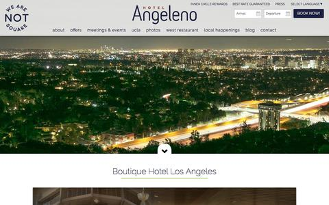 Screenshot of About Page hotelangeleno.com - Los Angeles Boutique Hotel - captured May 23, 2017