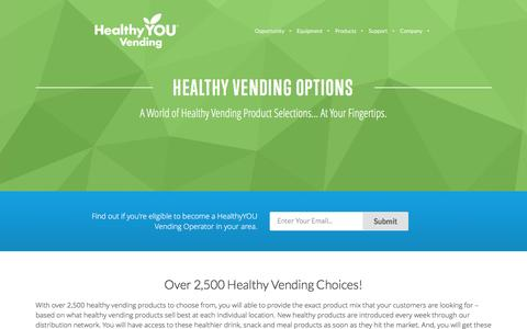 Screenshot of Products Page healthyyouvending.com - Healthy Vending Options From HealthyYOU Vending - captured May 16, 2017