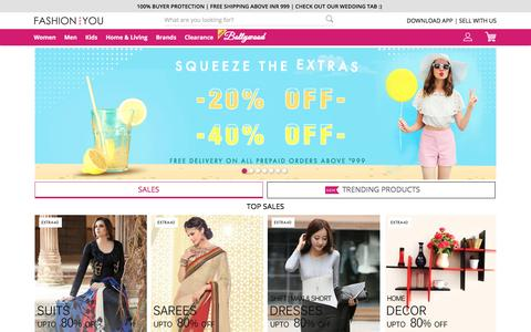 Screenshot of Home Page fashionandyou.com - Online Shopping India: Latest Trends in Fashion Clothing - captured April 24, 2017