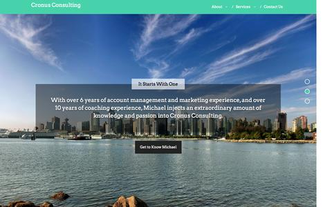 Screenshot of Home Page cronusconsultingcorp.com - Cronus Consulting |Cronus Consulting - captured Oct. 2, 2014