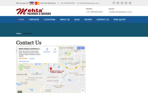 Mehta Packers & Movers | Contact Us | All India Shifting Services