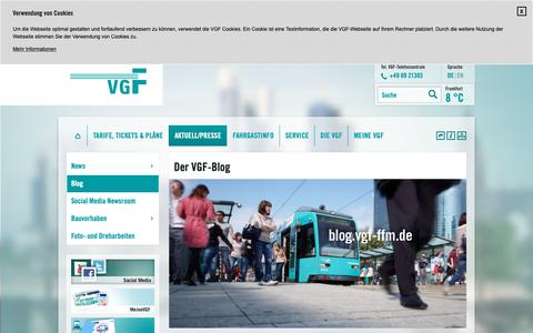 Screenshot of Blog vgf-ffm.de - Blog. Verkehrsgesellschaft Frankfurt am Main mbH - captured Oct. 21, 2018