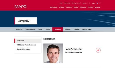 Screenshot of Team Page mapr.com - Leadership | MapR - captured Oct. 27, 2014