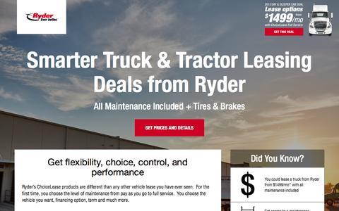 Screenshot of Landing Page ryder.com - Limited Time Offer from Ryder - captured Sept. 16, 2017