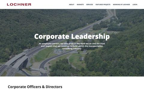 Screenshot of Team Page hwlochner.com - Corporate Leadership - HW Lochner - captured July 22, 2018