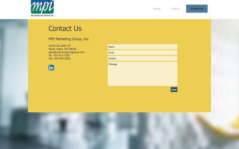 Screenshot of Contact Page mpimarketinggroup.com - mpimarketinggroup | Contact Us - captured Nov. 18, 2016