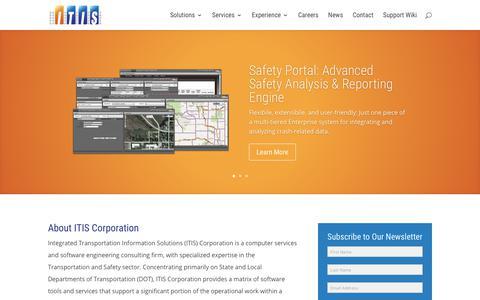 Screenshot of Home Page itis-corp.com - Home - ITIS Corporation - captured Sept. 30, 2017