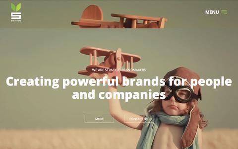 Screenshot of Home Page stratigo.com - Branding | Stratigo Brandmakers - captured Oct. 25, 2017