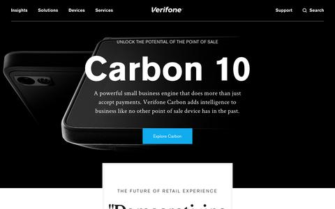 Screenshot of Home Page verifone.com - Verifone.com - captured April 7, 2017