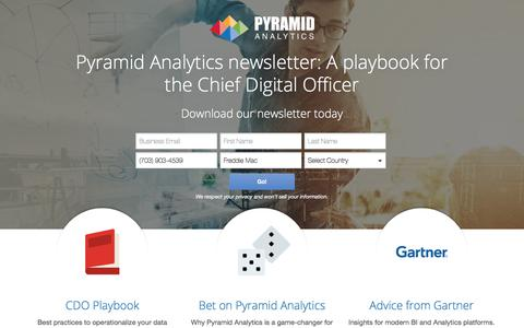 Screenshot of Landing Page pyramidanalytics.com - Gartner Research - captured Dec. 5, 2017
