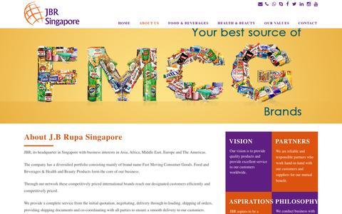 Screenshot of About Page jbrupa.com.sg - JBR Singapore |   About Us - captured Nov. 18, 2016