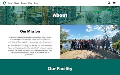 Screenshot of About Page ecovativedesign.com - About        Mycelium Biofabrication Platform   Ecovative   Green Island, New York - captured July 12, 2018