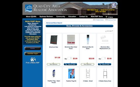 Screenshot of Products Page qcara.com - QCARA - QCARA Realtor® Store - captured Jan. 27, 2016
