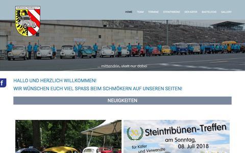 Screenshot of Home Page kaeferteam-nuernberg.de - Home - Käferteam Nürnberg e.V. - captured June 27, 2018