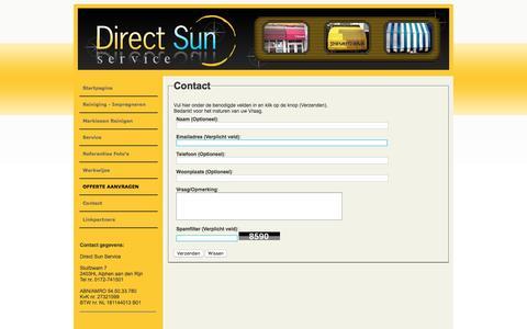 Screenshot of Contact Page directsun-schoonmaak.nl - Contact - captured Nov. 24, 2016