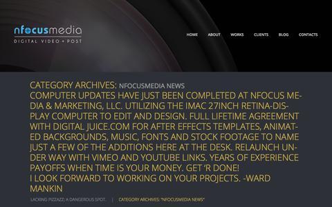"Screenshot of Press Page nfocusmedia.com - Category Archive for ""nFocusmedia News""   Ward Mankin - captured Oct. 21, 2017"