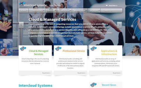 Screenshot of Home Page intercloudsys.com - InterCloud Systems, Inc. (ICLD) - captured July 11, 2014