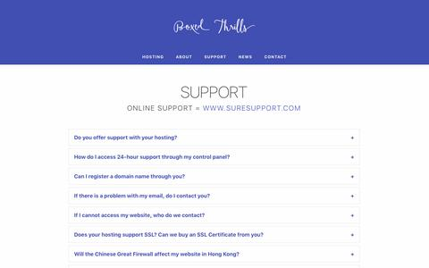 Screenshot of Support Page crystal-asia.com - Hosting for clients in China, Hong Kong, US, Europe | Boxed Thrills - captured May 22, 2017