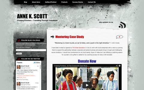 Screenshot of Case Studies Page wordpress.com - Mentoring Case Study | Anne K. Scott - captured Sept. 12, 2014