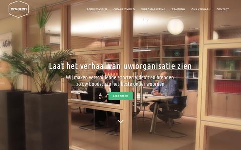 Screenshot of Home Page ervaren.nu - Ervaren – Meer bereiken met video! | Ervaren - Meer bereiken met video! - captured Jan. 23, 2015