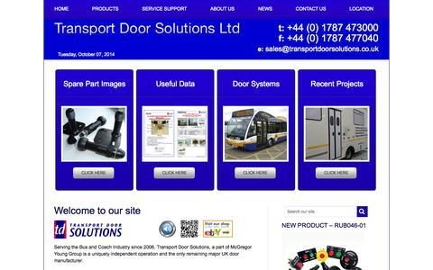 Screenshot of Home Page transportdoorsolutions.co.uk - Transport Doors Solutions - captured Oct. 7, 2014