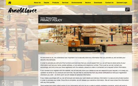 Screenshot of Privacy Page laver.co.uk - Privacy Policy - captured Oct. 4, 2014