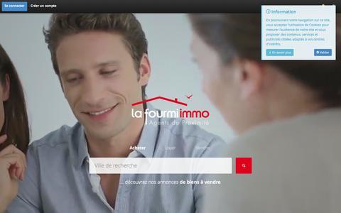 Screenshot of Home Page lafourmi-immo.com - La Fourmi immo - Agents de proximité en immobilier - captured July 17, 2015