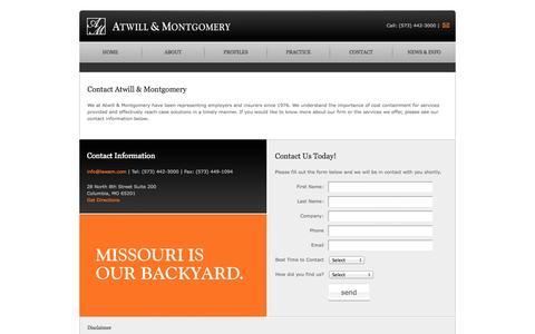Screenshot of Contact Page atwillmontgomerylaw.com captured Oct. 27, 2014