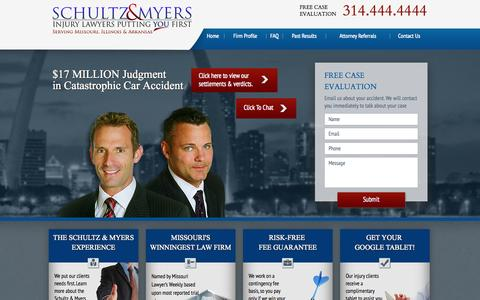 Screenshot of Privacy Page schultzmyers.com - Privacy Policy | Schultz & Myers | St. Louis Auto Accident Attorney - captured Oct. 3, 2014