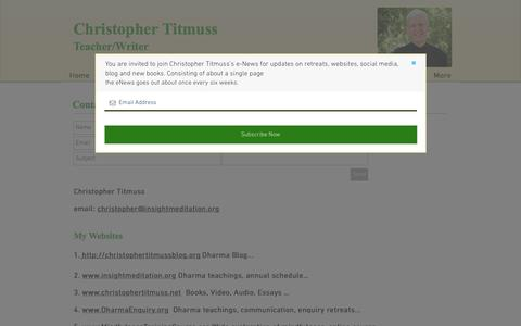 Screenshot of Contact Page christophertitmuss.net - Contact - captured March 4, 2017