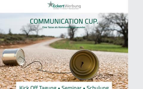 Screenshot of Landing Page pagewiz.net - Communication Cup - kein klassischer Werbeartikel. Die Frage ist nicht was es ist, sondern was Sie aus dem Werbemittel machen. - captured Nov. 2, 2016