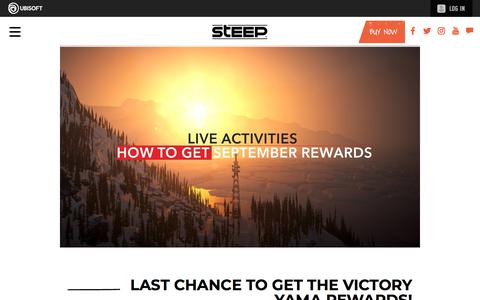 Screenshot of Press Page ubisoft.com - Last chance to get the Victory Yama Rewards | Steep Game News & Updates | Ubisoft (US) - captured Nov. 8, 2019
