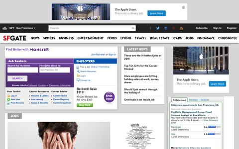Screenshot of Jobs Page sfgate.com captured Jan. 13, 2016