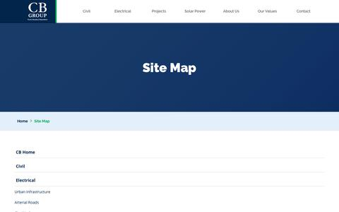 Screenshot of Site Map Page cb.com.au - Site Map - captured Feb. 26, 2018
