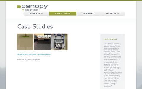 Screenshot of Case Studies Page canopyit.com - Case Studies | Canopy IT Solutions - captured Jan. 25, 2016
