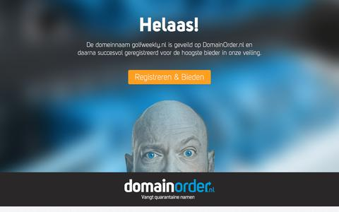 Screenshot of Home Page golfweekly.nl - Deze domeinnaam is via de veiling van DomainOrder.nl geregistreerd - captured July 15, 2019