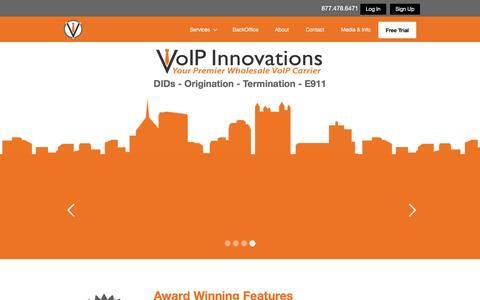 Screenshot of Home Page voipinnovations.com - VoIP Innovations Wholesale VoIP Provider - captured March 19, 2016