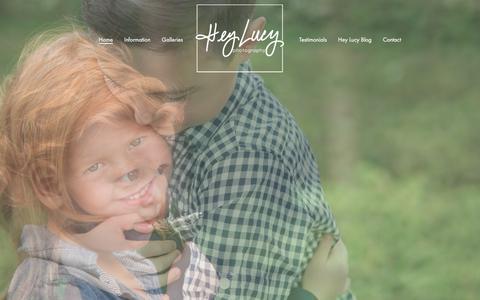 Screenshot of Home Page heylucyphoto.com - Home - Hey Lucy Photography - captured Aug. 3, 2017