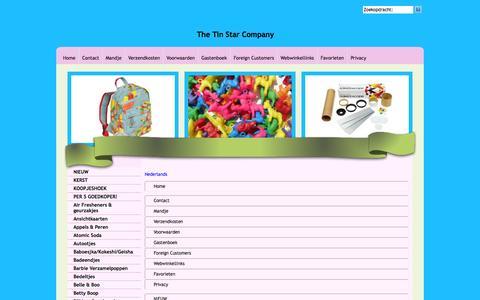 Screenshot of Site Map Page Menu Page tinstarcompany.com captured Feb. 15, 2016