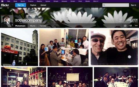 Screenshot of Flickr Page flickr.com - Flickr: socialcompany's Photostream - captured Oct. 30, 2014