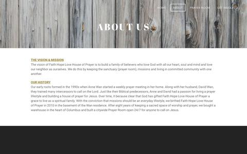 Screenshot of About Page fhlministry.com - About - captured Oct. 10, 2018