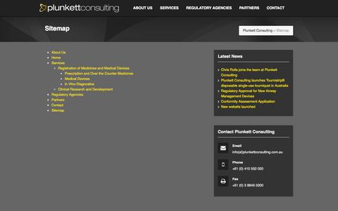 Screenshot of Site Map Page plunkettconsulting.com.au - Sitemap - captured Sept. 30, 2014