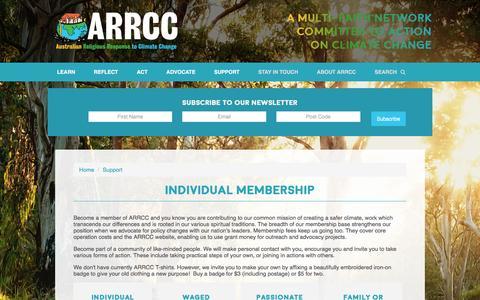 Screenshot of Signup Page arrcc.org.au - Individual Membership - ARRCC - captured Dec. 31, 2016