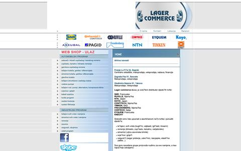 Screenshot of Home Page lagercommerce.hr - Lager Commerce - captured Dec. 13, 2018