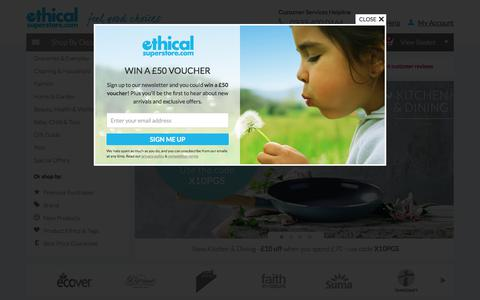 Screenshot of Home Page ethicalsuperstore.com - Ethical Superstore: Fair Trade, Organic, Vegan & Eco Friendly Products - captured Sept. 24, 2018