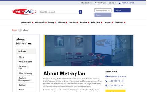 Screenshot of About Page metroplan.co.uk - About | Metroplan - captured Nov. 28, 2016